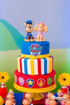 Paw Patrol Birthday Theme, Paw Patrol Party, 3rd Birthday Parties, Boy Birthday, Torta Paw Patrol, Cumple Paw Patrol, Puppy Party, Cakes For Boys, No Bake Cake