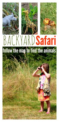 Backyard safari and map activity! Fun for Apologia Aoology 3, Apologia Land Animals for #homeschool scienee, animal lesson