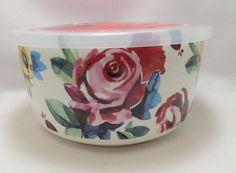 "Roses Multi-Color Microwave MicrowaveMe Bowl Large 6.5"" Steam Lid Freezer Ciroa #Ciroa"