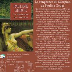 La vengeance du Scorpion de Pauline Gedge Scorpion, Broadway, I Don't Care, I Want You, Blue Eyes, Moonlight, Livres, Scorpio