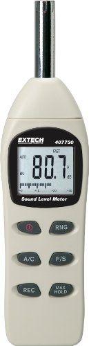 Extech 407730 40-To-130-Decibel Digital Sound Level Meter, 2015 Amazon Top Rated Sound Measurement #HomeImprovement
