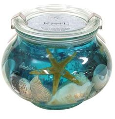 Starfish and Seashell Gel Candle Seashell Projects, Candle Making Business, Cotton House, Gel Candles, Candle Making Supplies, Candle Containers, Blue Towels, Homemade Candles, Candlemaking