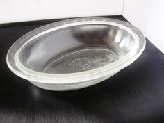 1960s Phoenix Pie Dish Made in England Clear Glass by TheIrishBarn
