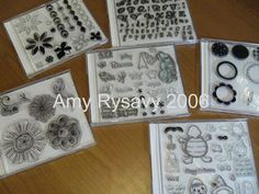 CD cases. Great way to store all those clear stamps! Makes them readily and easily accessible when we need them!
