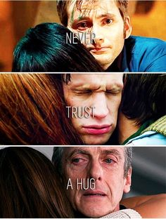 Image discovered by I_Don't_Know. Find images and videos about hug, doctor who and matt smith on We Heart It - the app to get lost in what you love. Sherlock, Geronimo, David Tennant, Science Fiction, Supernatural, 11th Doctor, Don't Blink, Torchwood, Time Lords