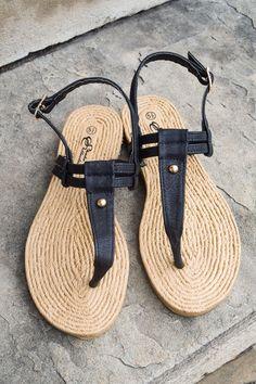 Simple Summer Sandal Black