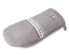 Authentic Graphite Striped Oxford Mitten