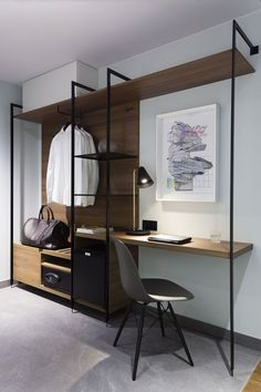 Home office / work space inspiration. 2 desks instead of clothes rack