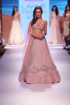 Pastel pink lehenga by Anushree Reddy - Lakme Fashion Week Winter/Festive 2015…
