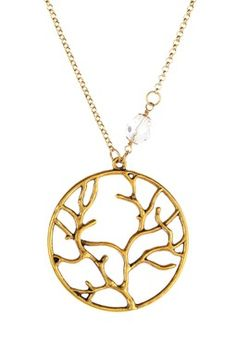 Round Branch Charm Necklace