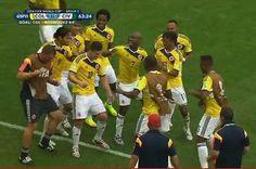 Nadie está disfrutando la Copa Mundial como el equipo colombiano :)