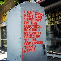 Street Art by Plastic Jesus art mural graffiti streetart Street Art Graffiti, Street Art Poster, Street Art Quotes, Graffiti Quotes, Street Mural, Graffiti Lettering, Banksy, Plastic Jesus, Arte Punk