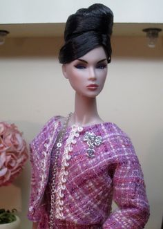Chanel Inspired Suit in Orchid Bouclé by Bellissimacouture on Etsy