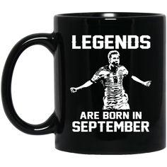Lionel Messi Mug Legends Are Born In September Coffee Mug Tea Mug