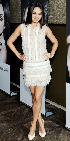 Mila Kunis in a flawless lacy Elie Saab LWD