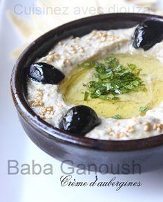 Baba ghanouj ou baba ganoush d'aubergines Vegan Bbq Recipes, Lebanese Recipes, Roti Canai Recipe, Caviar D'aubergine, Slow Food, Arabic Food, Creative Food, No Cook Meals, Snacks
