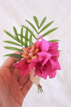 tropical inspired boutonniere // guest post on julep  A Fabulous Fete