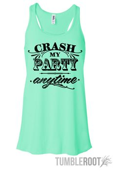 "Adorable Luke Bryan inspired country music racerback tank top ""crash my party anytime"" the perfect summer country concert tank top in mint! Country Girl Style, Country Fashion, Country Outfits, My Style, Country Music, Concert Outfit Summer, Summer Outfits, Cute Outfits, Luke Bryan"