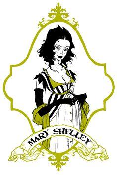 Mary Shelley by AbigailLarson.deviantart.com on @deviantART