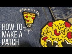 DIY: CUSTOM EMBROIDERED PATCHES || 3 techniques & NO SEW!! - YouTube