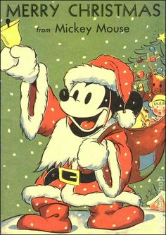 vintage Mickey mouse as Santa Walt Disney, Disney Love, Disney Magic, Disney Mickey, Punk Disney, Mickey Mouse Christmas, Mickey Mouse And Friends, Mickey Minnie Mouse, Merry Christmas