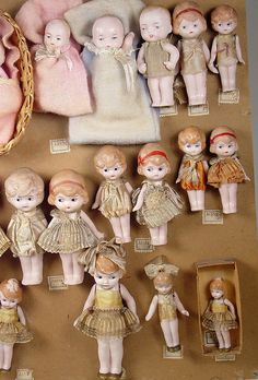 Thanks to a Theriault's special auction in early 2001, we have a greatrecord of the factory sample cards for small German all-bisque dolls from the Hertwig factoryfrom the 1890s to the 1930s. For...