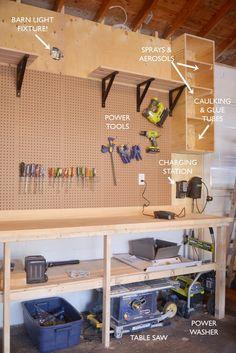 Garage workbench makeover pinterest organization ideas diy garage organization ii solutioingenieria Image collections