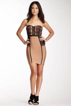 Lacey Panel Bandage Dress