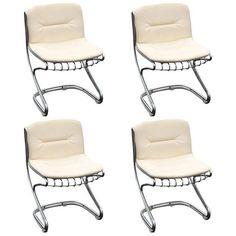 Image of Mid-Century Modern Italian Dining Chairs - Set of 4