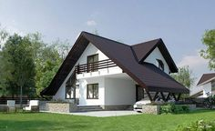 Proiecte de case pentru o familie cu patru membri Best house plans for a family of four romanian rural house inspired by the old design. Modern Bungalow Exterior, Dream House Exterior, Best House Plans, Modern House Plans, Tiny House Design, Modern House Design, Three Bedroom House Plan, Archi Design, Architect House