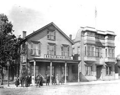 The Railroad Exchange Hotel, a working class boardinghouse on the corner of 7th Street and Bay Street in West Oakland, was opened in 1865 by German immigrant John Frese. One of the first hotels in the area, it had a dedicated entrance, a lobby, and ground floor office. The hotel's saloon had a separate entrance, which meant that respectable women could stay in the hotel; women boarding at a hotel with entry through the saloon only were assumed to be prostitutes.
