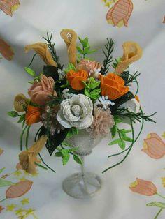 Beading flowers orange