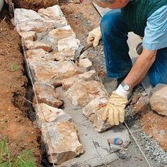 Tutoriel : comment remonter un mur de pierre Tutorial: how to put up a stone wall