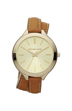Michael Kors Double Wrap Leather Strap Watch available at Nordstrom