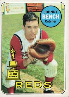 1969 Topps #95 Johnny Bench Front