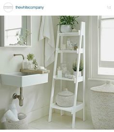 A Slim Tapering Ladder Shelf Unit