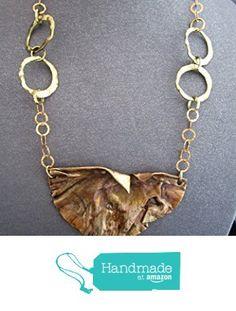 Gold Bronze Metal Bib Necklace from FirednWiredJewelry http://www.amazon.com/dp/B018RLX6OK/ref=hnd_sw_r_pi_dp_d8oxwb0VAQ2GH #handmadeatamazon