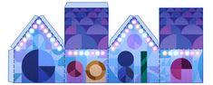 Jesus wird geboren, das Fest der Liebe, Heiligabend. Google wünscht ein frohes Fest mit einem Doodle.  Email Tweet