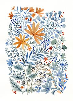 More watercolor flowers by Vikki Chu
