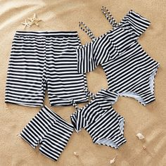 Yaffi Family Matching Swimwear 2019 Newest One Piece Off Shoulder Bathing Suit, Off Shoulder Bathing Suit, Kids Outfits, Cute Outfits, Baby Swimsuit, Striped One Piece, Cute Bathing Suits, Stripes Fashion, Matching Family Outfits, Baby Outfits Newborn