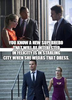 See. Told you guys. - V #Arrow #Olicity