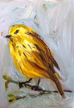 Little Warbler Oil Painting by DevinePaintings on Etsy, $38.00