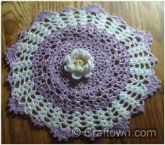 Crowned Daisy Doily - Crochet Pattern Designed by Crafts by Starlight