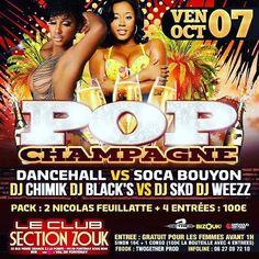 Ce vendredi Dj Skd dans la team bouyon pour la soirée Pop Champagne au Club Section. Venez nombreux!  #webadubradio #twogetherprod #bouyon #dancehall #dancehallmusic #dancehallreggae #Dancehallfans #NewDancehall #everythingdancehall  #ClubSection