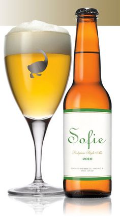 """Favorite beer ever. First had it when visiting my sister in Chicago. This belgian style brew is refreshing and crisp. It's like a bottle of champagne had a baby with the best beer in the universe that was laid by a goose. Sofie's sister, Goose Island """"Matilda,"""" is also a very good beer, but on the sweeter side - great for a glass, but I could tap Sofie all night."""