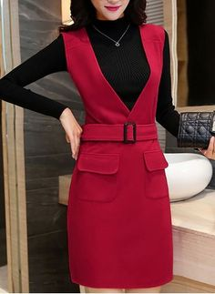 Shop Floryday for affordable Casual Dresses. Floryday offers latest ladies' Casual Dresses collections to fit every occasion. Women's Fashion Dresses, Casual Dresses, Dresses For Work, Affordable Dresses, Pinafore Dress, Fashion Sewing, Jumper Dress, Dresscode, Classy Dress