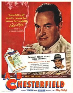 #42 bob-hope chesterfield cigarettes ad