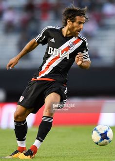 Leonardo Ponzio of River Plate drives the ball during a match between River and Union as part of Superliga at Monumental Stadium on November 2017 in Buenos Aires, Argentina. Stock Pictures, Football Players, Fifa, Soccer, Plates, Running, November, Carp, Free Photos
