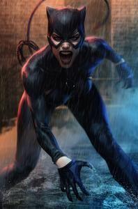 Zoë Kravitz is stepping into the iconic shoes of Selina Kyle (aka Catwoman) for Matt Reeves' upcoming The Batman film. Batman Und Catwoman, Batgirl, Supergirl, Comic Books Art, Comic Art, Book Art, Stanley Lau, Super Heroine, Catwoman Selina Kyle