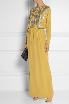 By Malene Birger | Lidania sequin-embellished silk-satin gown | NET-A-PORTER.COM